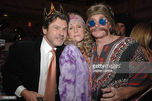 Jann Wenner, Glenn Close and David Shaw during NYRP's 10th Anniversary Bette Midler's Hulaween - Inside at Waldorf Astoria in New York, New York,...