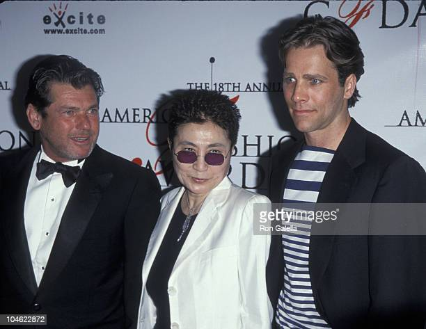 Jann Wenner Yoko Ono and Matt Nye during 18th Annual CFDA American Fashion Awards at The Armory in New York City New York United States