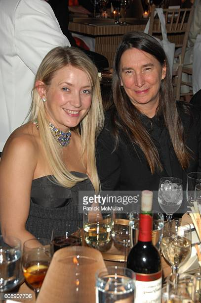 Janna Bullock and Jenny Holzer attend GUGGENHEIM INTERNATIONAL GALA at Hudson River Park Pier 40 NYC on November 8 2007