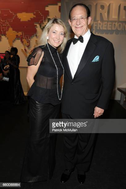 Janna Bullock and William Haseltine attend THE HUFFINGTON POST PreInaugural Ball at The Newseum on January 19 2009 in Washington DC