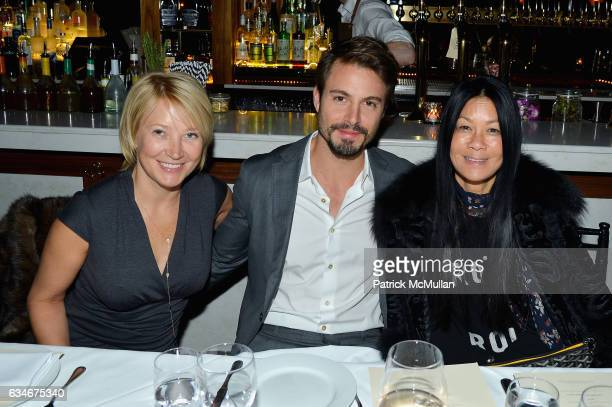 Janna Bullock Emanuele Fiore and Helen Lee Schifter attend the Nicole Miller Fall 2017 After Party on February 10 2017 in New York City