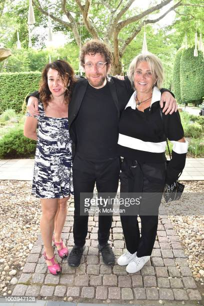 Janna Levin Dustin Yellin and Jackie Yellin attend the LongHouse Reserve Annual Benefit Celebrates Brooklyn at LongHouse Reserve on July 21 2018 in...