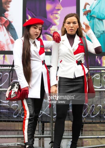 Janna Rae and Galina Antonova during London Fashion Week February 2020 on February 16, 2020 in London, England.