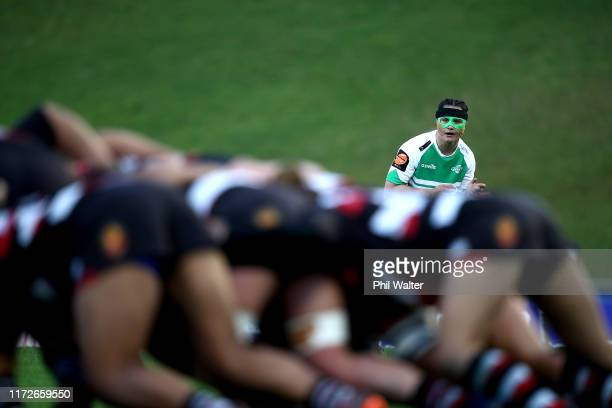 Janna Vaughan of Manawatu looks on during the round two Farah Palmer Cup match between Counties Manukau and Manawatu on September 06 2019 in Pukekohe...