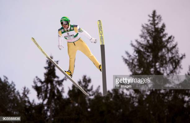 Janne Ahonen of Finland competes during the FIS Ski Jumping World Cup on December 09 2017 in TitiseeNeustadt Germany