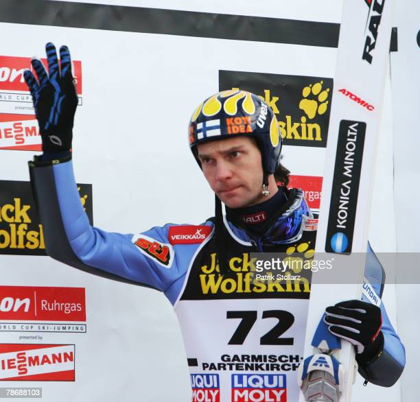 Janne Ahonen of Finnland after the second round of the FIS Ski Jumping World Cup event at the 56th Four Hills Ski Jumping Tournament on January 01...