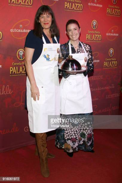 Janne Meyer-Zimmermann and Sandra Maahn during the Poletto Palazzo Charity Event on February 8, 2018 in Hamburg, Germany.