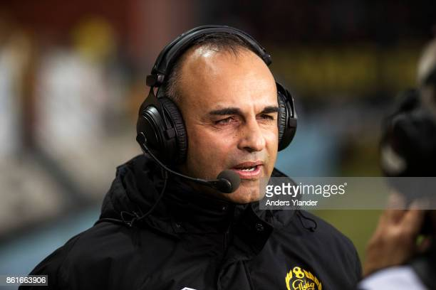 Janne Mian, head coach of IF Elfsborg during a interview prior to the Allsvenskan match between IF Elfsborg and GIF Sundsvall at Boras Arena on...