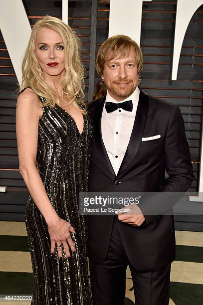 Janne Tyldum and director Morten Tyldum attend the 2015 Vanity Fair Oscar Party hosted by Graydon Carter at Wallis Annenberg Center for the...