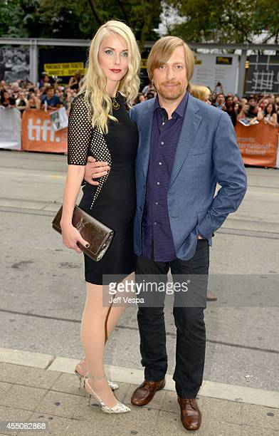 Janne Tyldum and director Morten Tyldum attend the The Imitation Game premiere during the 2014 Toronto International Film Festival at Princess of...