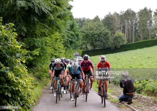Janneke Ensing of Netherlands and Team BikeExchange, Trixi Worrack of Germany and Team Trek - Segafredo, Chantal Van Den Broek - Blaak of Netherlands...