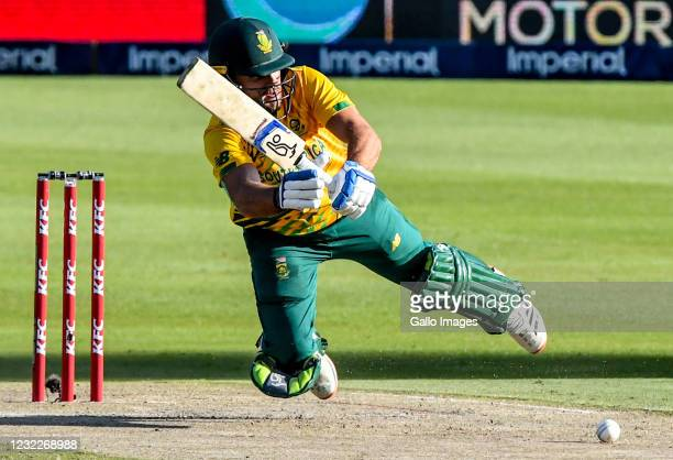 Janneman Malan of South Africa during the 2nd KFC T20 International match between South Africa and Pakistan at Imperial Wanderers Stadium on April...
