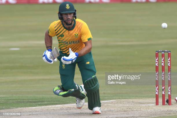 Janneman Malan of the Proteas during the 3rd KFC T20 International match between South Africa and Pakistan at SuperSport Park on April 14, 2021 in...