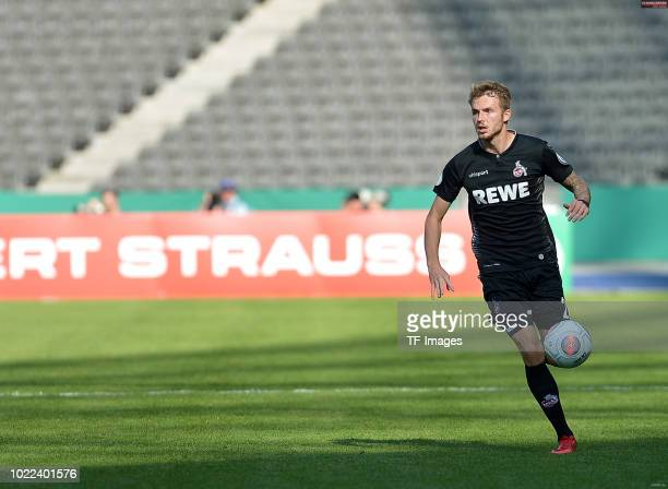 Jannes Horn of FC Koeln controls the ball during the DFB Cup first round match between BFC Dynamo and 1 FC Koeln at Olympiastadion on August 19 2018...