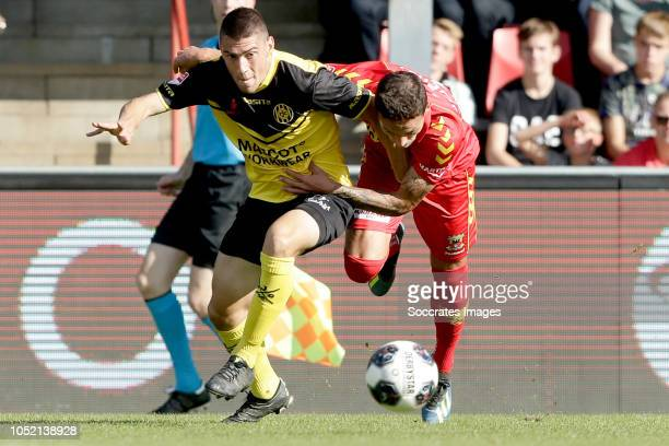 Jannes Vansteenkiste of Roda JC Jaroslav Navratil of Go Ahead Eagles during the Dutch Keuken Kampioen Divisie match between Go Ahead Eagles v Roda JC...