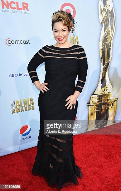 Janney 'Chiquis' Marin arrives at the 2012 NCLR ALMA Awards at Pasadena Civic Auditorium on September 16 2012 in Pasadena California