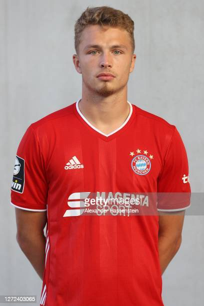 Jann-Fiete Arp of FC Bayern München II poses during the team presentation on SEPTEMBER 14, 2020 in Munich, Germany.