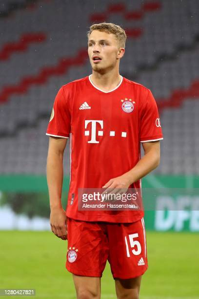 Jann-Fiete Arp of FC Bayern München looks on during the DFB Cup first round match between 1. FC Düren and FC Bayern Muenchen at Allianz Arena on...
