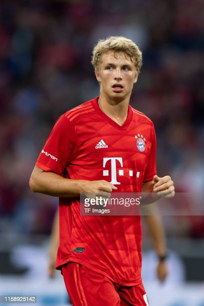 Jann-Fiete Arp of FC Bayern Muenchen looks on during the Audi cup 2019 final match between Tottenham Hotspur and Bayern Muenchen at Allianz Arena on...