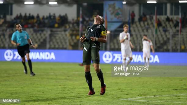 JannFiete Arp of Germany shows his frustration during the FIFA U17 World Cup India 2017 group C match between Iran and Germany at Pandit Jawaharlal...