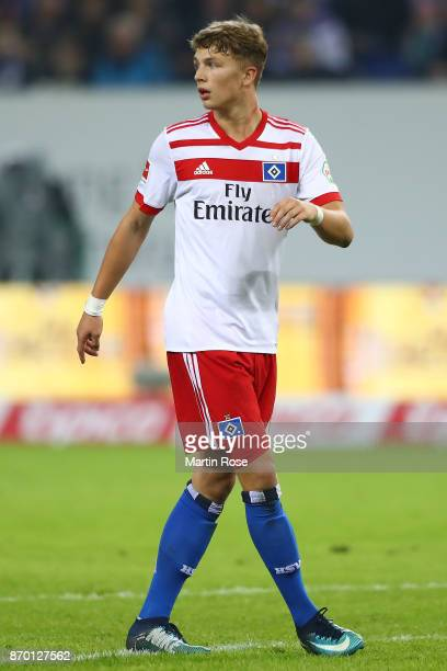 JannFiete Arp of Hamburg during the Bundesliga match between Hamburger SV and VfB Stuttgart at Volksparkstadion on November 4 2017 in Hamburg Germany