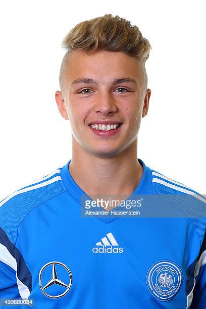 JannFiete Arp of the Germany national U16 team poses during the team presentation on October 21 2015 in Grodig Austria