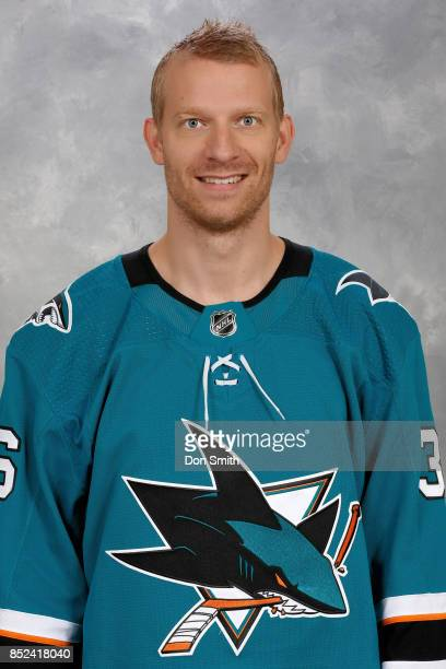 Jannik Hansen of the San Jose Sharks poses for his official headshot for the 201718 season on September 14 2017 at Sharks Ice in San Jose California