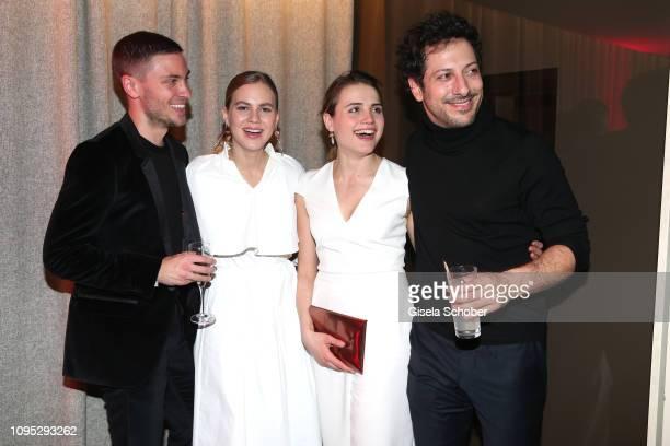 Jannik Schümann Alicia von Rittberg Mala Emde and Fahri Yardim attend the Berlinale Opening Night by GALA UFA Fiction at Das Stue on February 07 2019...