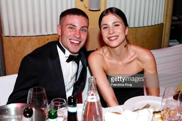 Jannik Schuemann and Aylin Tezel during the 46th German Film Ball at Hotel Bayerischer Hof on January 26 2019 in Munich Germany