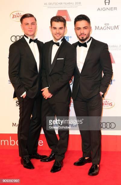 Jannik Schuemann Lucas Reiber Aram Arami during the German Film Ball 2018 at Hotel Bayerischer Hof on January 20 2018 in Munich Germany