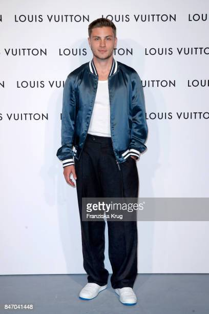 Jannik Schuemann wearing Louis Vuitton attends the 'Louis Vuitton Time Capsule' Exhibition Opening at Franzoesisches Palais on September 14 2017 in...
