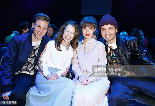 Jannik Schuermann Paula Beer Liv Lisa Fries and Edin Hasanovic attend the Kilian Kerner show during the MercedesBenz Fashion Week Berlin...