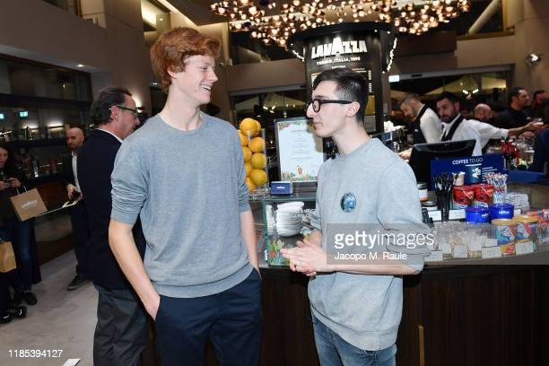 Jannik Sinner and guest attend ATP Next Gen Draw Party by Lavazza on November 02 2019 in Milan Italy