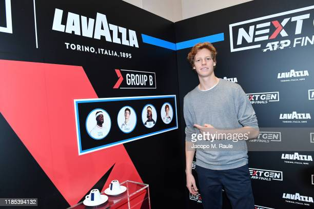 Jannik Sinner attends ATP Next Gen Draw Party by Lavazza on November 02 2019 in Milan Italy