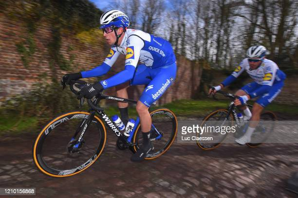 Jannik Steimle of Germany and Team Deceuninck - Quick Step / Florian Sénéchal of France and Team Deceuninck - Quick Step / Cobblestones / during the...