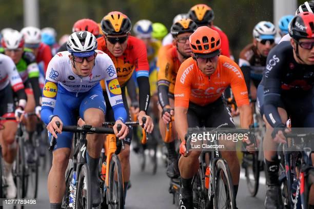 Jannik Steimle of Germany and Team Deceuninck - Quick-Step / Jakub Mareczko of Italy and CCC Team / Peloton / during the 16th BinckBank Tour 2020 -...