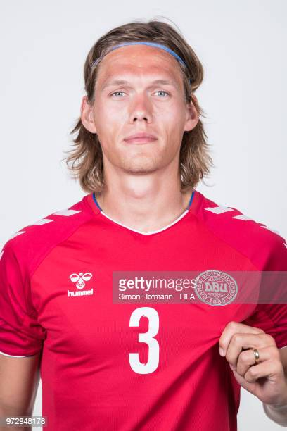 Jannik Vestergaard of Denmark poses during official FIFA World Cup 2018 portrait session on June 12 2018 in Anapa Russia