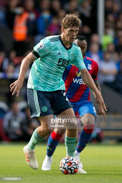 Jannik Vestergaard of Leicester controls the ball during the Premier League match between Crystal Palace and Leicester City at Selhurst Park, London...