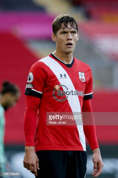 Jannik Vestergaard of Southampton during the Premier League match between Southampton and Everton at St Mary's Stadium on October 25 2020 in...