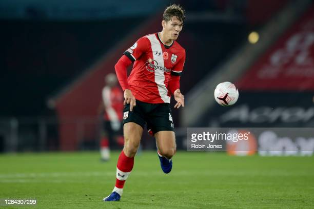 Jannik Vestergaard of Southampton during the Premier League match between Southampton and Newcastle United at St Mary's Stadium on November 06, 2020...