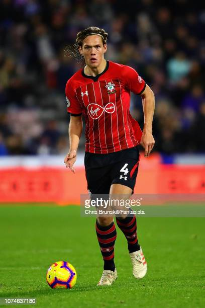 Jannik Vestergaard of Southampton FC in action during the Premier League match between Huddersfield Town and Southampton FC at John Smith's Stadium...