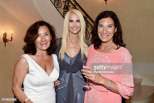 Jannine de Meritt Katrina Peebles and Gina King attend Katrina and Don Peebles Host NY Mission Society Summer Cocktails at Private Residence on July...