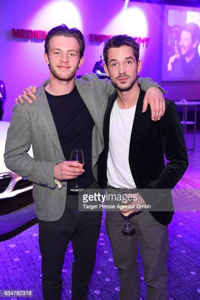 Jannis Niewoehner and guest attend the Medienboard Berlin-Brandenburg Reception during the 67th Berlinale International Film Festival Berlin at on...