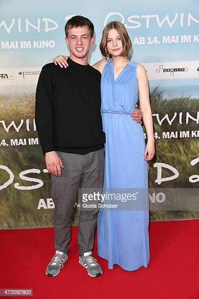 Jannis Niewoehner and Hanna Binke during the German premiere of the film 'Ostwind 2' on May 3 2015 in Munich Germany