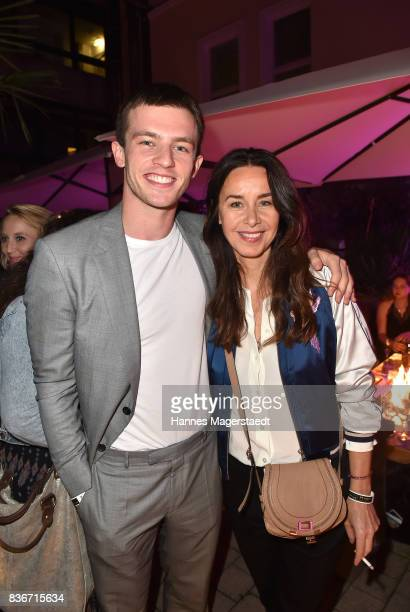 Jannis Niewoehner and Katharina MuellerElmau during the 'Jugend ohne Gott' premiere party at H'Ugo's on August 21 2017 in Munich Germany