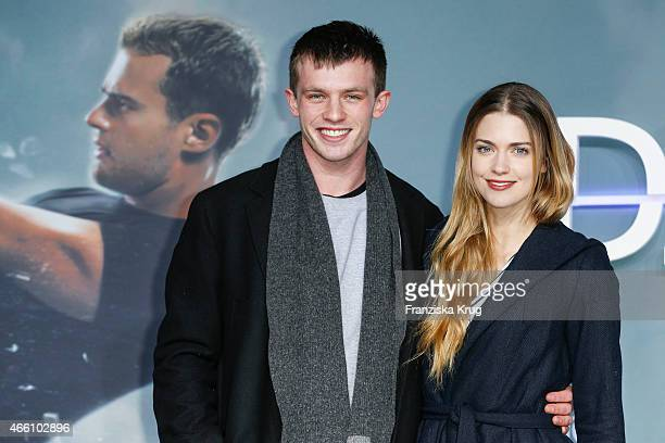 Jannis Niewoehner and Laura Berlin attend the 'Die Bestimmung Insurgent' German Premiere on March 13 2015 in Berlin Germany