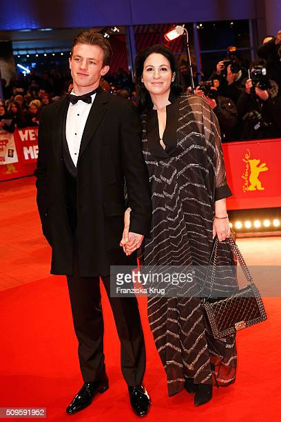 Jannis Niewoehner and Minu BaratiFischer attend the 'Hail Caesar' premiere during the 66th Berlinale International Film Festival Berlin at Berlinale...