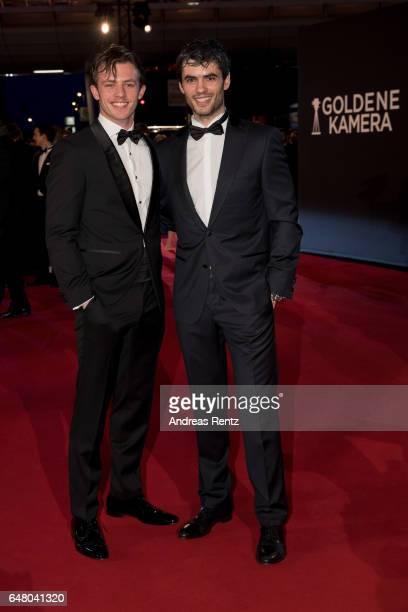 Jannis Niewoehner and Nik Xhelilaj arrive for the Goldene Kamera on March 4 2017 in Hamburg Germany