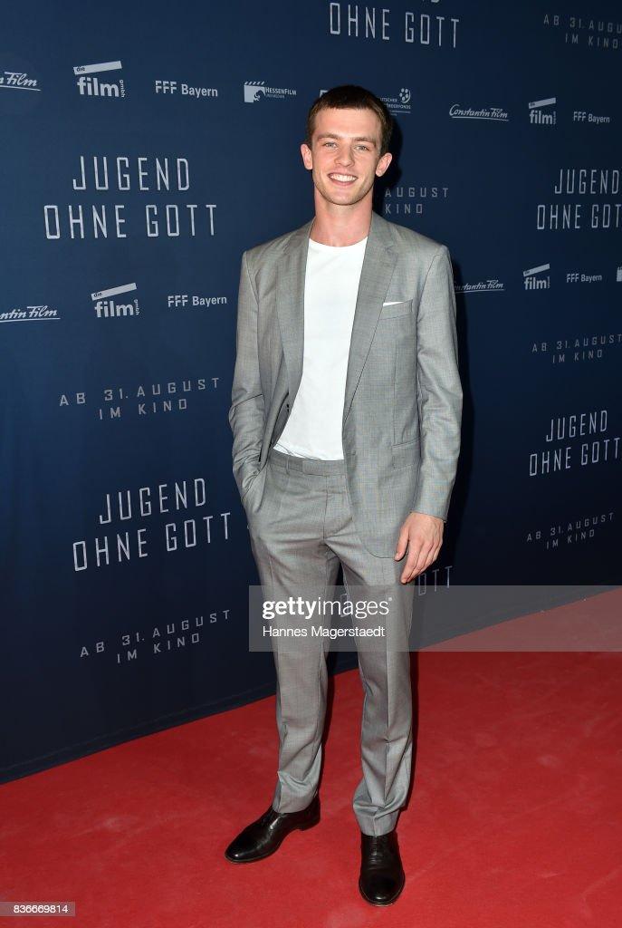 Jannis Niewoehner during the 'Jugend ohne Gott' premiere at Mathaeser Filmpalast on August 21, 2017 in Munich, Germany.