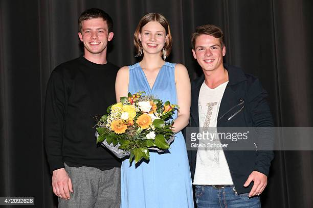 Jannis Niewoehner Hanna Binke and Marvin Linke during the German premiere of the film 'Ostwind 2' on May 3 2015 in Munich Germany
